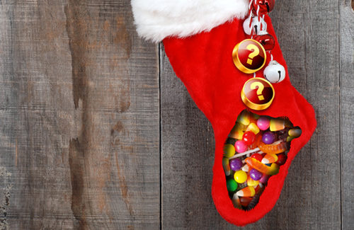 Christmas Candy Stocking Weekly Guess Game